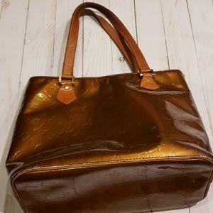 Louis Vuitton Vernis bronze bag
